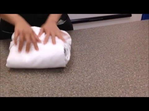 How to Fold a Fitted Sheet (so that it stays folded)