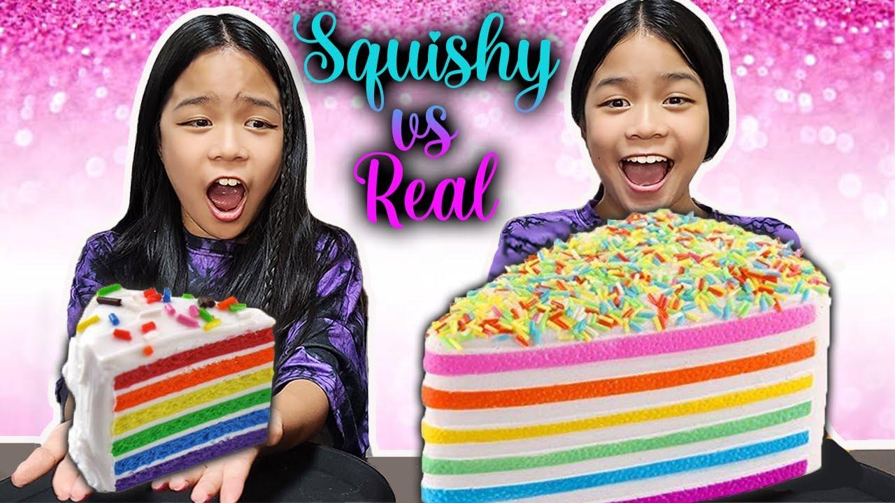 Download SQUISHY VS REAL FOOD CHALLENGE 2021 | Tran Twins