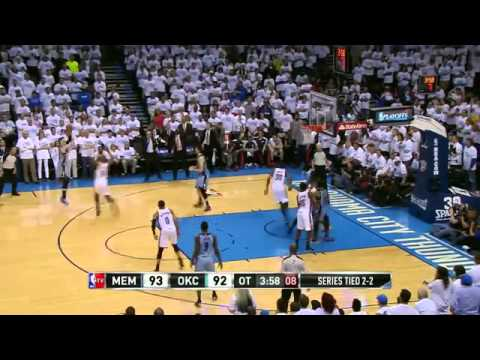 Oklahoma City Thunder 99 x 100 Memphis Grizzlies Game 5 playoffs 2013/2014