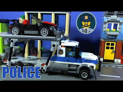 LEGO CITY POLICE Auto Transport Heist Film - YouTube Police Golf Cart Trucks on police vehicles being repaired, police lights for golf cart, police tow truck,