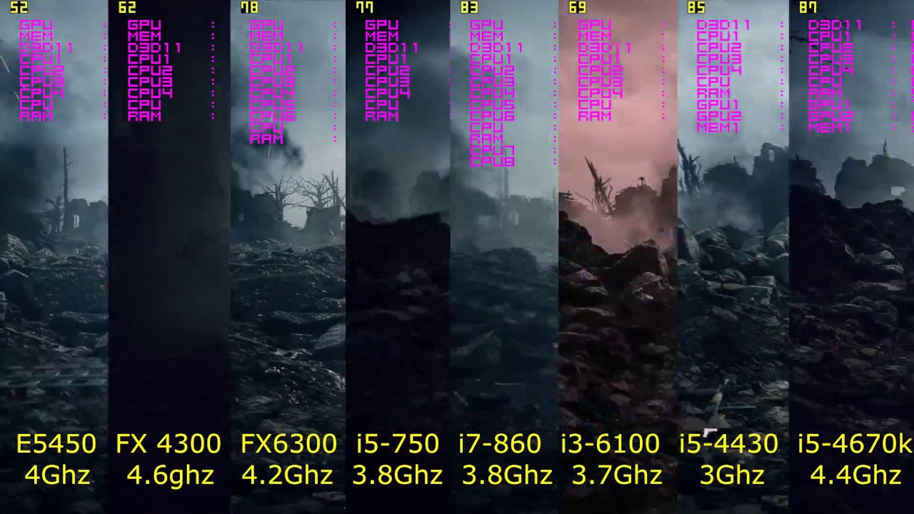 NVIDIA PhysX | RX 480 + GTX 470 vs RX 480 + I5 4670 | MirrorsEdge .