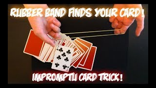 Rubber Band: The Bounty Hunter - AWESOME IMPROMPTU Card Trick Revealed!