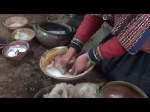 Colorantes naturales para tejidos usados por los indígenas del Perú