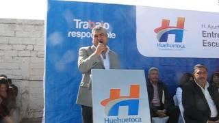 BENITO JIMÉNEZ alcalde de Huehuetoca ENTREGÓ RECURSOS ECONÓMICOS A ESCUELAS DEL MUNICIPIO.