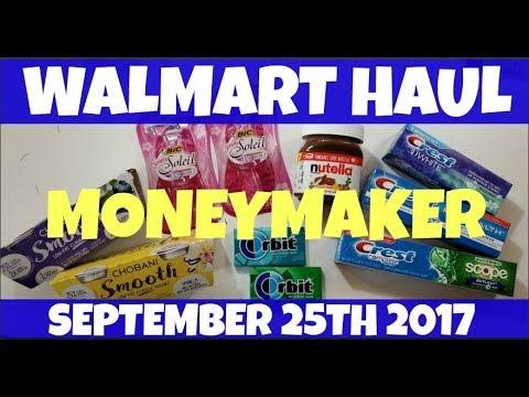 Walmart Ibotta MONEYMAKER Haul September 25th 2017