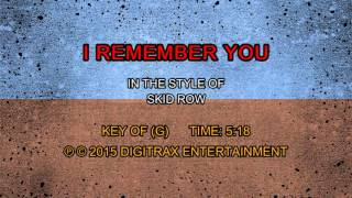 Skid Row - I Remember You (Backing Track)
