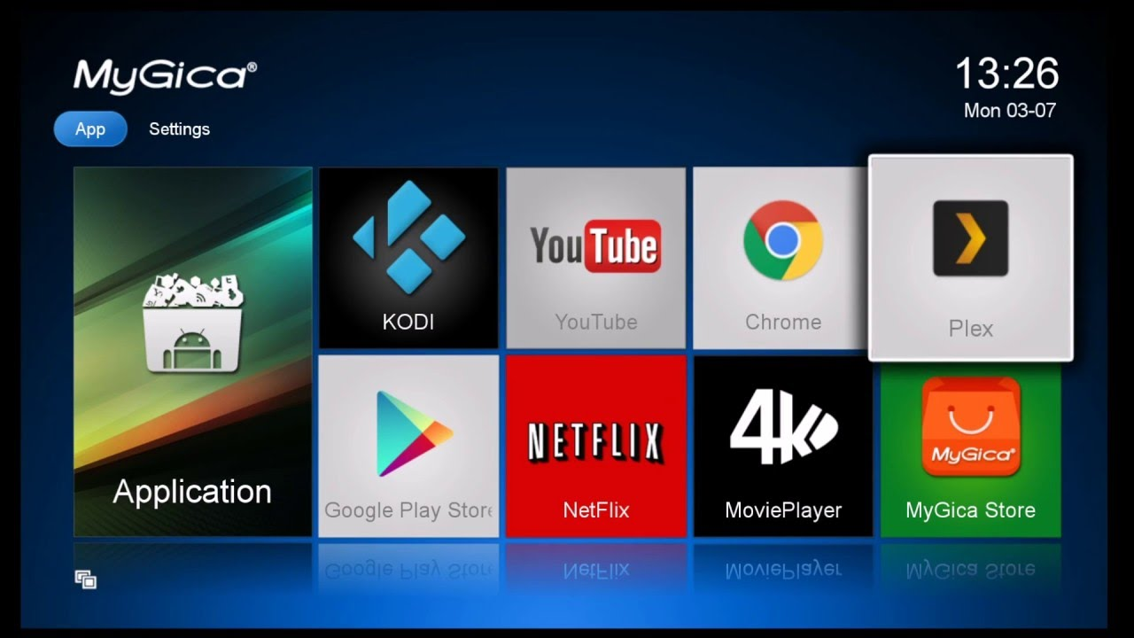 Change a Home Screen Icon on a MyGica Media Player