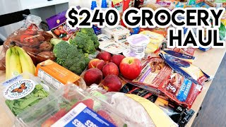 🛒 GROCERY HAUL & MEAL PLAN FOR A FAMILY OF 4 😀 HYVEE GROCERY HAUL