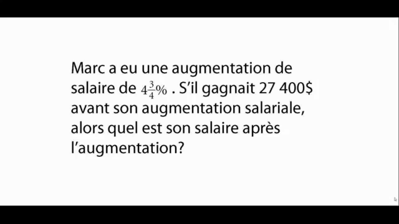 Exercice de mathématiques- Pourcentage - Secondaire 1 - Exercices de math - YouTube
