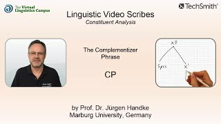 Linguistic Video Scribes - Constituent Analysis: The CP
