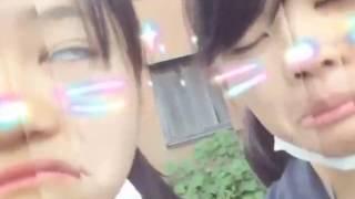 あいりとかすみの変顔写真をvivavideoでビデオにしたよ~