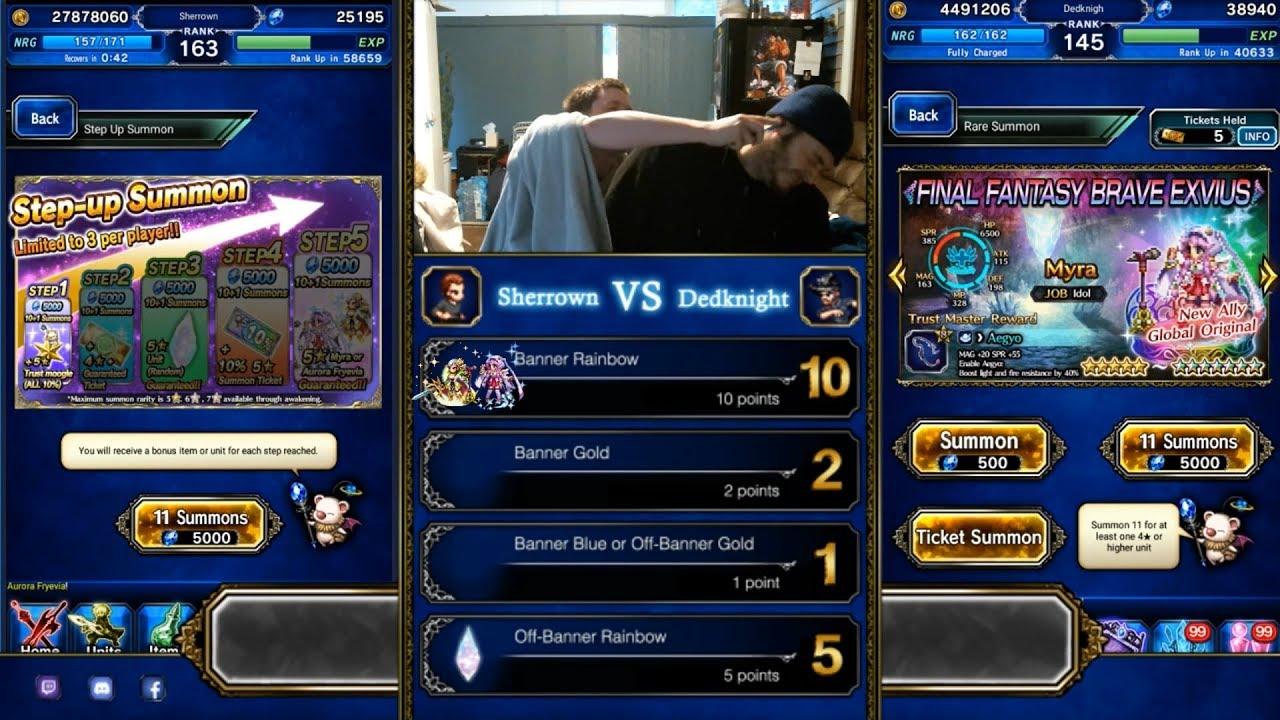 FFBE Aurora Fryevia/Myra Banner Versus Pull Video   Neighborhood Gaming