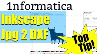 Jpeg to DXF Using Inkscape Tutorial Bitmap to Vector For CNC jpg DXF2GCODE