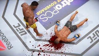 МОЩЬ за ГРАНЬЮ!!САМЫЙ ЖЕСТКИЙ НОКАУТЕР ФРАНСИС НГАННУ в Топ 10 мира UFC 3 НОКАУТЫ
