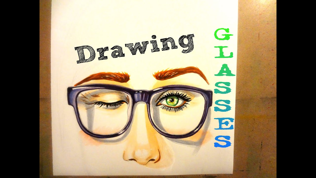 How to draw glasses youtube ccuart Gallery