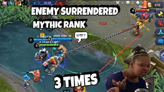 ENEMY SURRENDERS IN 3 MATCHES BACK 2 BACK! FRANCO MYTHIC RANK [FIRST MATCH] | WOLF XOTIC | MLBB