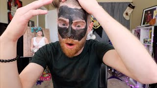 TRYING A CHARCOAL MASK!