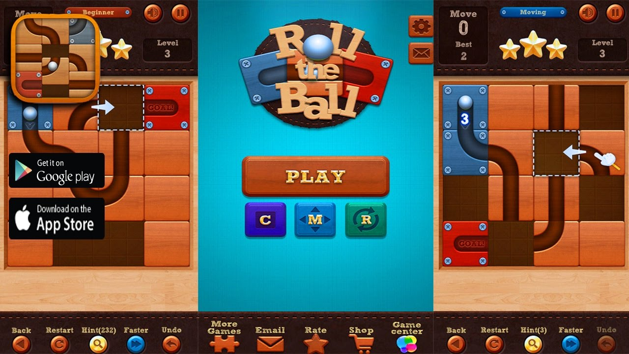 Roll the Ball™ slide puzzle - iOS / Android Game Trailer HD 1080p