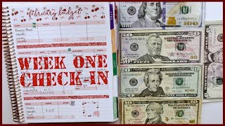 Week 1 Check In Using Cash | Budget with Me - February 2020 Budget