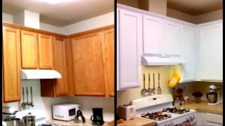 Paint Cabinets White For Less Than $120 - DIY Paint Cabinets