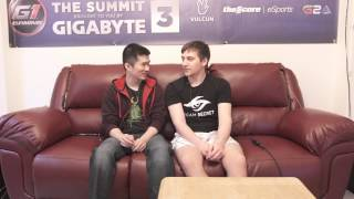Arteezy Interview by Hotbid (The Summit 3 by Gigabyte)