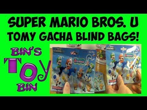 Super Mario Bros. U Tomy Gacha Blind Bags + Mario Kart Cars Review! By Bin's Toy Bin