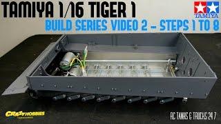 TAMIYA 1/16 TIGER 1 RC Tank BOVINGTON TIGER Build Series Video 2 - Steps 1 to 8