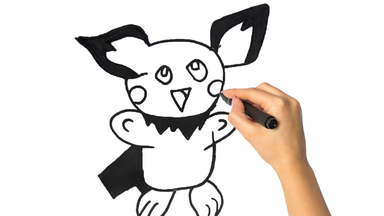 How to Draw Pichu | Pokemon | Pichu drawing - YouTube