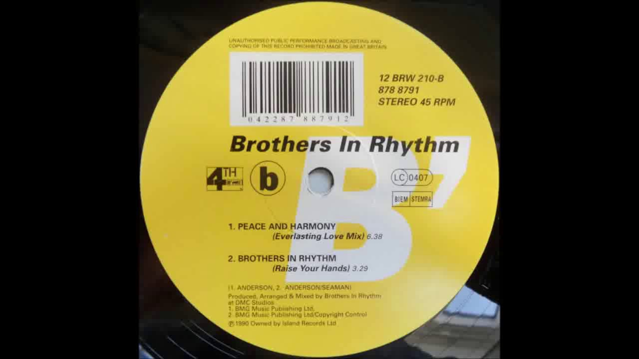 (1991) Brothers In Rhythm - Brothers In Rhythm (Raise Your Hand) [Original Mix]