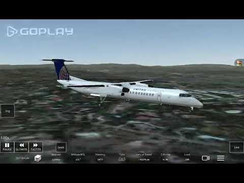Infinite Flight United Airlines Dash 8 Q400 Landing at Dutchess County Airport (Read Description)