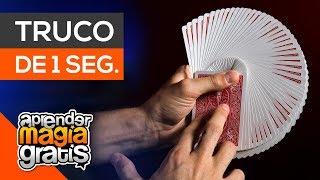 Truco de magia con cartas en 1 segundo | aprender magia gratis