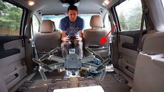 If You Fly a Drone in a Car, Does it Move With It? (Dangerous In-Car Flight Challenge)