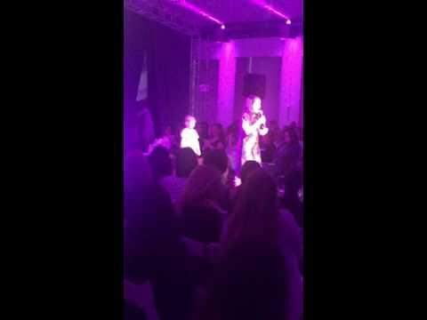 Mia Drazin singing at Chai Lifeline Hope Couture
