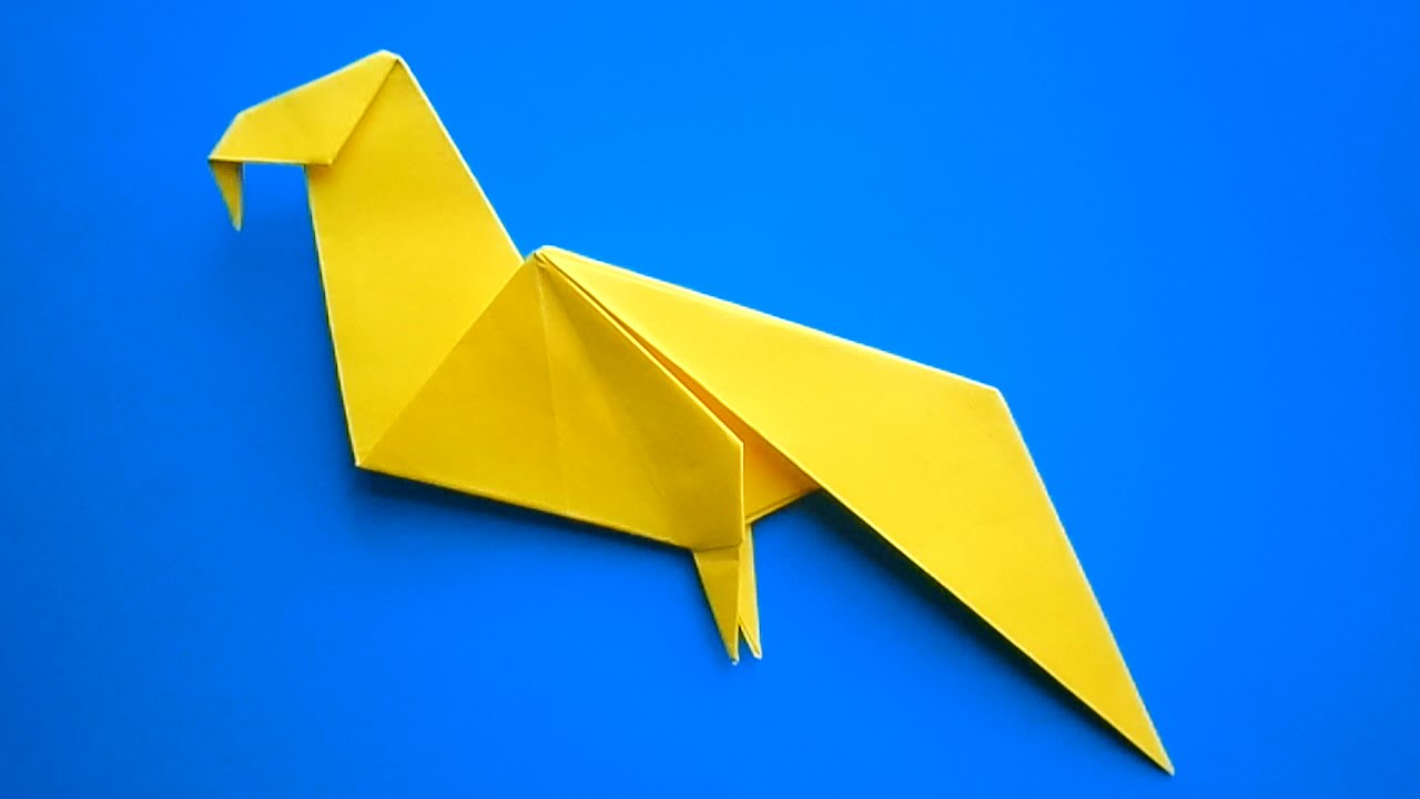Как сделать из бумаги попугая схема фото 659
