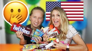 🤭 Exchange Student Reacts to American Candy (surprising)