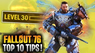 Top 10 Tips & Things To Know In FALLOUT 76! (Weapon Locations, Power Armor, Ranking Up & More)