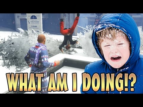 SNOWBALL FIGHT TROLLING!! (GTA 5 MODS)