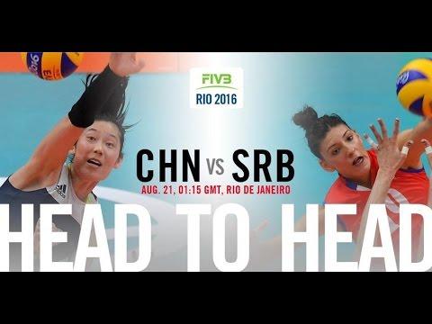 Rio olympic 2016 Women\'s Volleyball finals China VS Serbia 2016 奥运决赛女排中国对塞尔维亚
