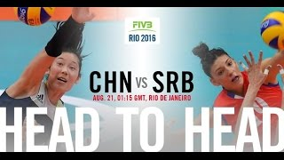 Rio olympic 2016 Women's Volleyball finals China VS Serbia 2016 奥运决赛女排中国对塞尔维亚
