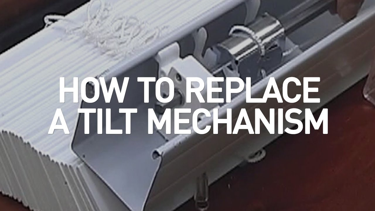 How To Replace A Tilt Mechanism Blinds Com Diy Youtube