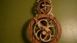 Wood Gear Clock (tempo) Designed By Clayton Boyer