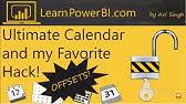 Power BI date table: create using DAX - YouTube
