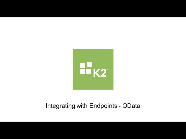 Integrating with Endpoints - OData