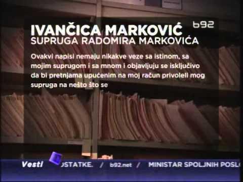 Kojim dosijeima preti Rade Marković