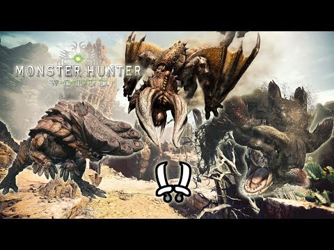 MHWorld Beta Clearing the WildSpire Waste: Diablos, Jyuratodus and Barroth in 14'26 [Dual Blades]