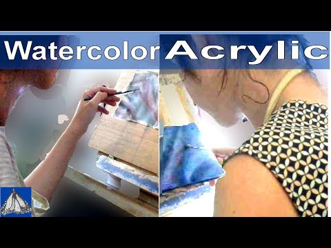 Demonstrating Painting Silk In Watercolor and Acrylics