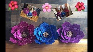 DIY Como hacer flores en Foami o Goma Eva!!! Perfectas para decorar eventos