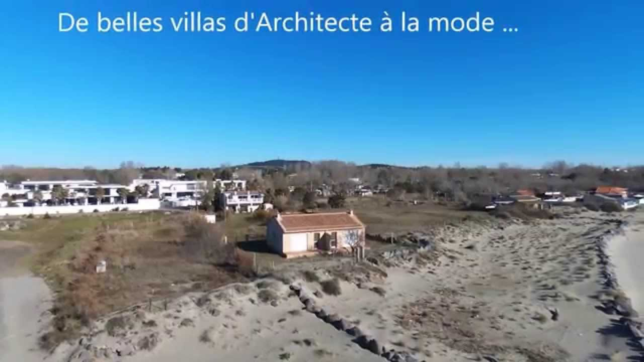 drone bebop survol plage du grau d 39 agde belle villa d 39 architecte youtube. Black Bedroom Furniture Sets. Home Design Ideas