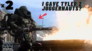 I GAVE TYLER 2 JUGGERNAUTS ONLY FOR HIM TO... (Call Of Duty: Modern Warfare)