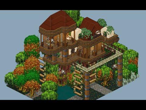 Casa exterior en la selva construccion de habbo tomoyo doovi for Casa moderna habbo